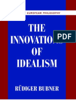 Rudiger Bubner the Innovations of Idealism 2003