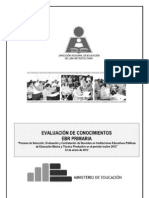 Cuadernillo de Preguntas Examen Contrato Primaria Lima