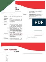 Horno Automatico a Vapor r1000 2x5 Ci Talsa 666666-39403