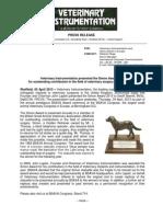 Veterinary Instrumentation Simon-Award Press Release UK