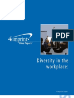 Diversity in the Workplace Blue Paper by promotional products retailer 4imprint
