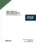 Vmware VSphere 4.1 - Install Configure Manage Student Laboratory Exercises