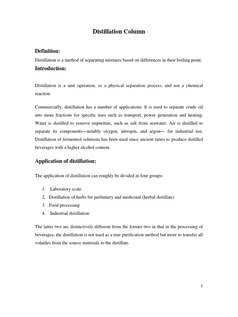 Distillation Column | Distillation | Unit Operations