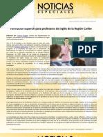 Formación superior para profesores de inglés de la Región Caribe