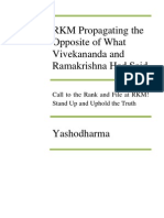 (49) RKM Propagating the Opposite of What Vivekananda and Ramakrishna Had Said