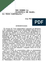 CONSIDERACIONES SOBRE LA REVOLUCIÓN FILOSÓFICA DE MARX- LA TESIS SARTREANA