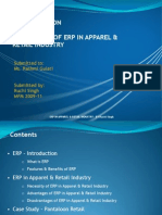 ERP in Apparel n Retail