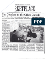 The Office Cubicle Falls Out of Favor