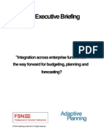 Integration across enterprise functions... the way forward for budgeting, planning and forecasting?