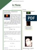 LEI DE OHM - EXERCÍCIOS RESOLVIDOS ~ Estudando Física