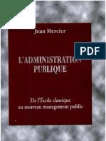 L'Administration Publique - Jean Mercier