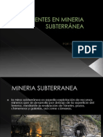 ACCIDENTES EN MINERIA SUBTERRÁNEA de sharmely