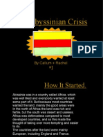 The Abyssinian Crisis by Callum + Rachel =] How