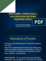 Clase_fisiologia_respiratoria Dr. Jaime Zevallos