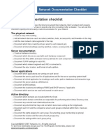 Network Documentation Checklist