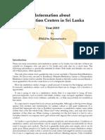 Information about Buddhist Meditation Centres in Sri Lanka