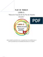 Plan de Trabajo Lista C CEM 2013