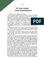 De l'acte complet envisagé dialectiquemenr, par René Fouéré
