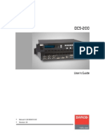 Barco UserGuideDCS 200 User Guide