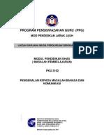 PKU3102 Pengenalan Kepada Masalah Bahasa Dan Komunikasi