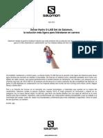 Salomon Sense Hydro S-Lab Nota Prensa Oficial 3abr13