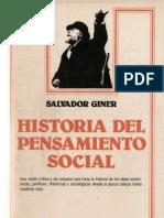 Giner Salvador - Historia Del Pensamiento Social