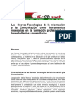Tecnonología de la Información y Comunicación