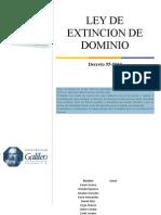 Ley de Extincion de Dominio
