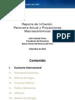 Reporte de Inflacion Setiembre 2012 Presentacion