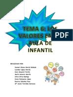 Tema 6-Los Valores