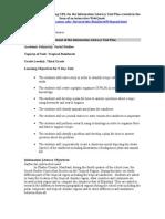 Information Literacy Unit Plan