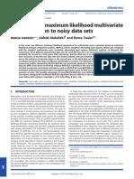 Application Ofmaximum Likelihoodmultivariate