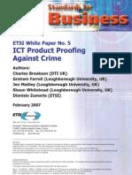 ETSI-WP5 Product Proofing