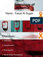 Epidemiology of Leukemia in Saudi Arabia