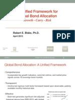 Global Bond Allocation Model April