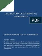Clasificacion Impactos Ambientales