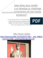 In what ways does your media product use or develop of challenge forms and conventions of real media products?