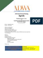 ADWA - AGM 2013 - Agenda