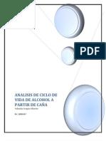 Ciclo de vida de alcohol a partir de caña