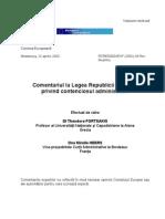 Comentariul La Legea Republicii Moldova Privind Contenciosul Administrativ