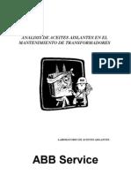 Análisis de Aceite - Mantenimiento de transformadores