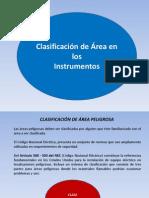 Clasificación de Áreas.