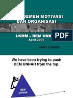 Manajemen Motivasi Dan Organisasi