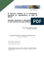 el discurso científico en la investigación en latinoamerica