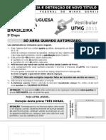 Lngua Portuguesa e Literatura Brasileira - Transferncia e Obteno de Novo Ttulo - 2011