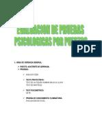 EVALUACIÓN DE PRUEBAS PSICOLOGICAS POR PUESTOS