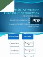 Development of Western Philosophy of Education