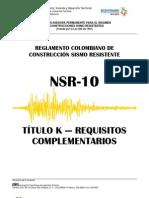 Título K - NSR 10
