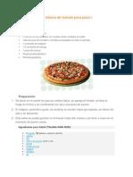 Receta de Salsa básica de tomate para pizza i