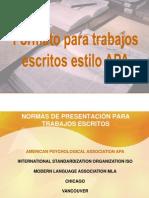 Formatos Para Trabajos Escritos Estilo APA